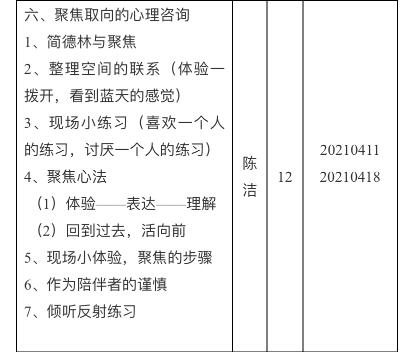 020年秋季(总第三届)心理咨询师